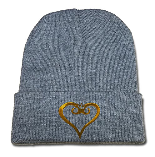 Heart Machine Embroidery (ZZZB Kingdom Hearts Logo Beanie Fashion Unisex Embroidery Beanies Skullies Knitted Hats Skull Caps -)
