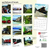 Railways of Canada 2018 12 x 12 Inch Monthly Square Wall Calendar, Canada Railroads Train