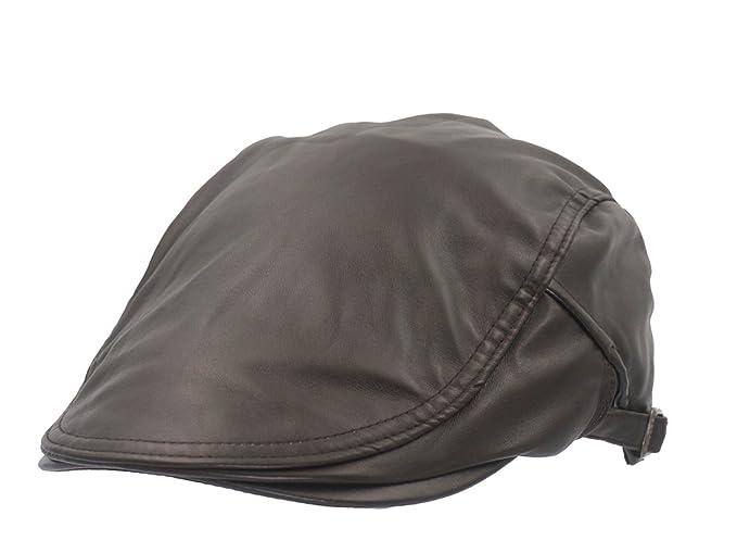 Roffatide Unisex Classico Ecopelle Regolabile Coppola Cappello Piatto  Berretti Piatti Marrone  Amazon.it  Abbigliamento 34905e663af9