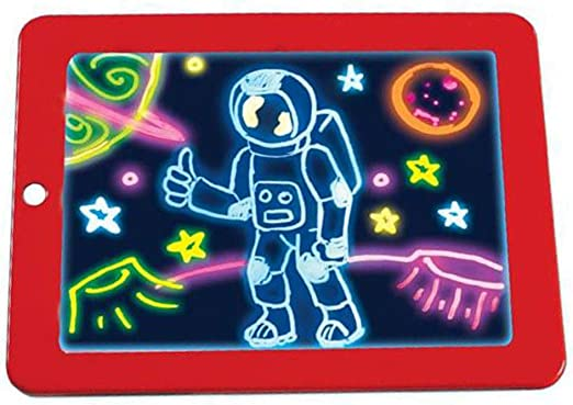 Caingmo Pizarra mágica 3D Dibujo, Creativa, para niños, con Luces ...