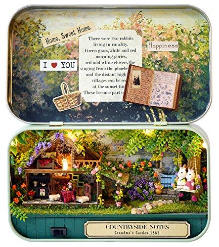 Cuteroom Dollhouse Miniature DIY Kit Handmade Xmas/Birthday Idea gift Box Theatre Countryside (Diy Christmas Ideas)