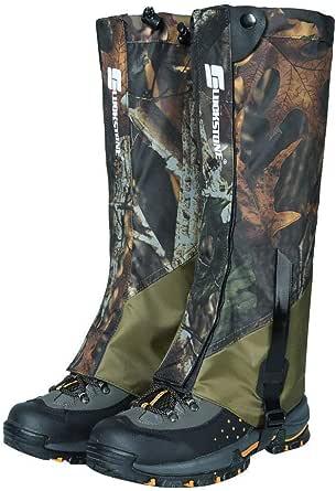 Camo - Mallas de senderismo para botas de nieve, impermeables, para escalada, caza, senderismo