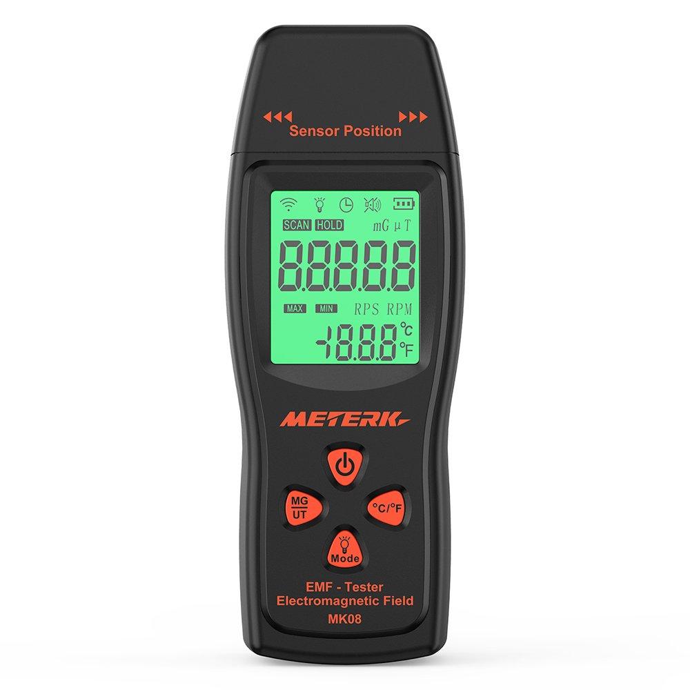 Meterk EMF Meter Detector de radiación de campo electromagnético Mini Digital LCD