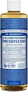 product image for Dr. Bronner's - Pure-Castile Liquid Soap (Peppermint, 16 ounce) - Made with Organic Oils, 18-in-1 Uses: Face, Body, Hair, Laundry, Pets and Dishes, Concentrated, Vegan