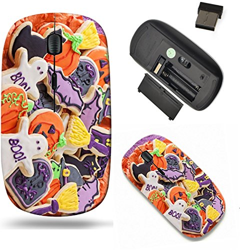Liili Wireless Mouse Travel 2.4G Wireless Mice with USB Receiver, Click with 1000 DPI for notebook, pc, laptop, computer, mac book Colorful cookies for halloween party Image ID 22004303 ()