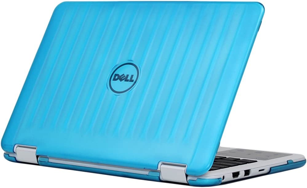 "iPearl mCover Hard Shell Case for New 2016 11.6"" Dell Inspiron 11 3168/3169 2-in-1 (Model P25T) Convertible Laptop (Aqua)"