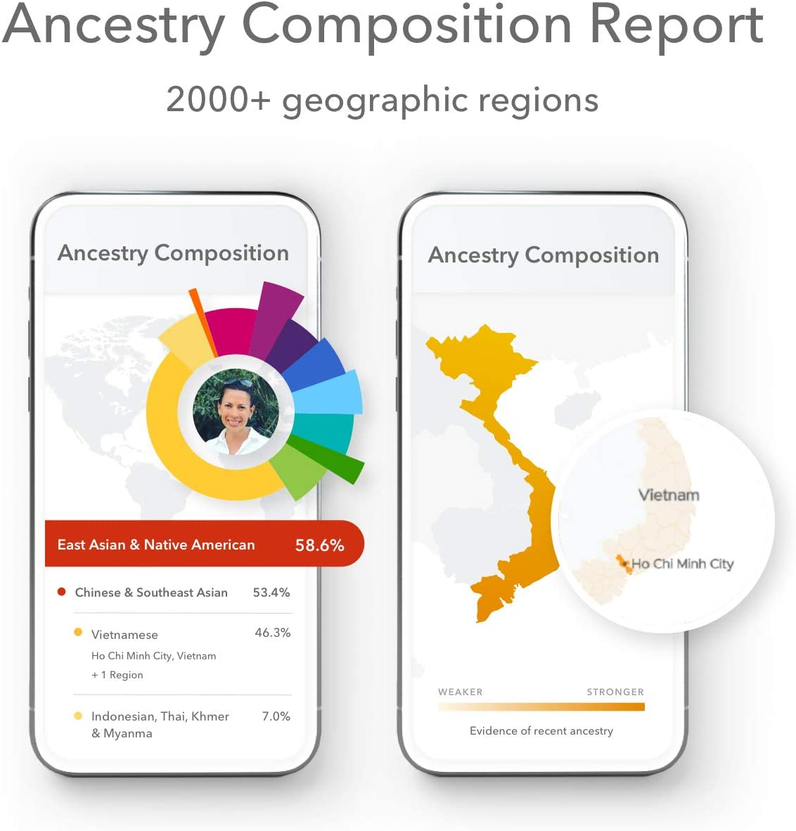 23andMe Ancestry + Traits Service: Personal Genetic DNA Test with 2000+ Geographic Regions, Family Tree, DNA Relative Finder, and Trait Reports