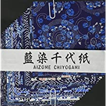 Aitoh YW-622 Aizome Chiyogami Origami Paper, 4 x 4-Inch, 20-Count