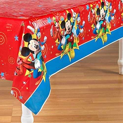 (Mickey Mouse 'Fun and Friends' Plastic Table Cover (1ct))