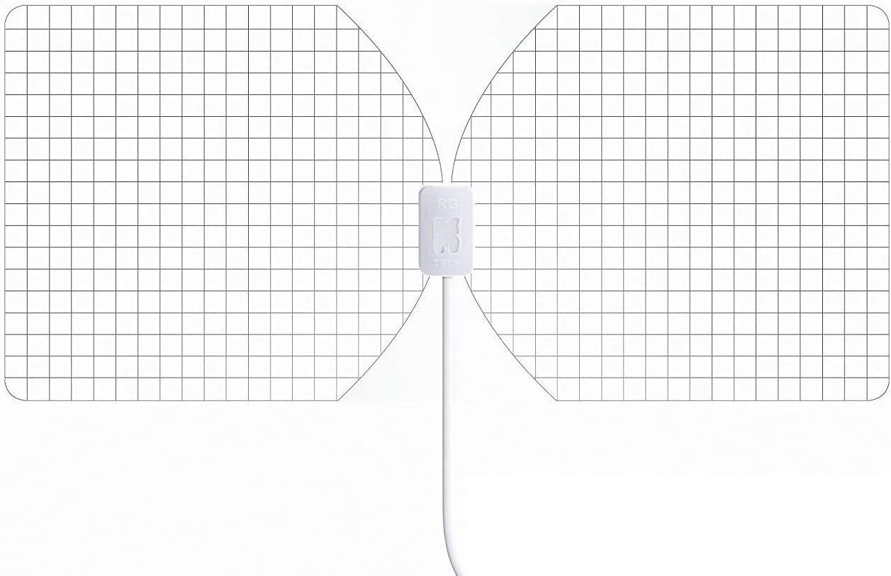 RGTech Monarch 50 Transparente - Antena Interior - Rango de recepción de 50 millas -plana, delgada como un papel-Multi direccional Antena HDTV para ...