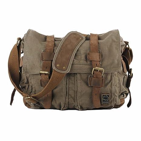 SB1 KAUKKO Handmade Organic Cotton Brown Messenger Bag