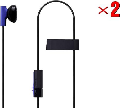 MKK 2 Pack Mono Chat Juego Gaming Auriculares Auriculares Auriculares Auriculares Auriculares Auriculares con Micrófono para PS4 Playstation 4: Amazon.es: Electrónica