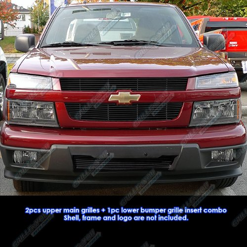 APS Fits 04-11 2011 Chevy Colorado Black Billet Grille Grill Combo Insert #C67946H