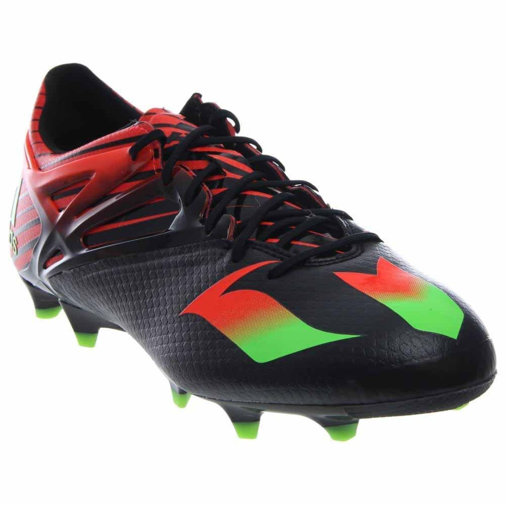 adidas Messi 15.1 FG/AG Soccer Cleats (Black, Solar Red) B017BS79HK 11.5 D(M) US|Black/green/solar Red