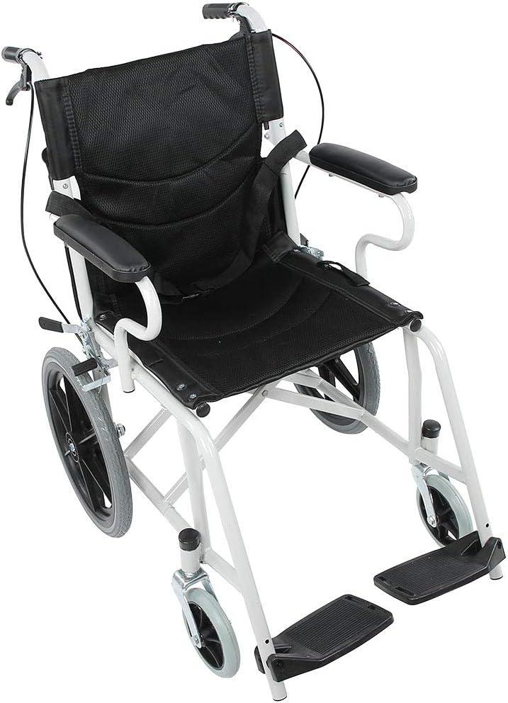 Estink - Andador ligero y plegable, 4 ruedas, silla de ruedas con freno de mano, silla de ruedas plegable, rueda trasera y ruedas antipinchazos