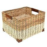 Woven Storage Record Basket, White