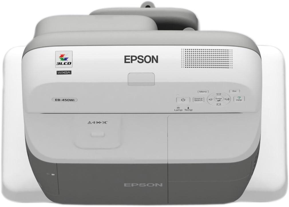 Epson EB-455Wi - Proyector (2500 lúmenes ANSI, LCD, WXGA (1280x800 ...
