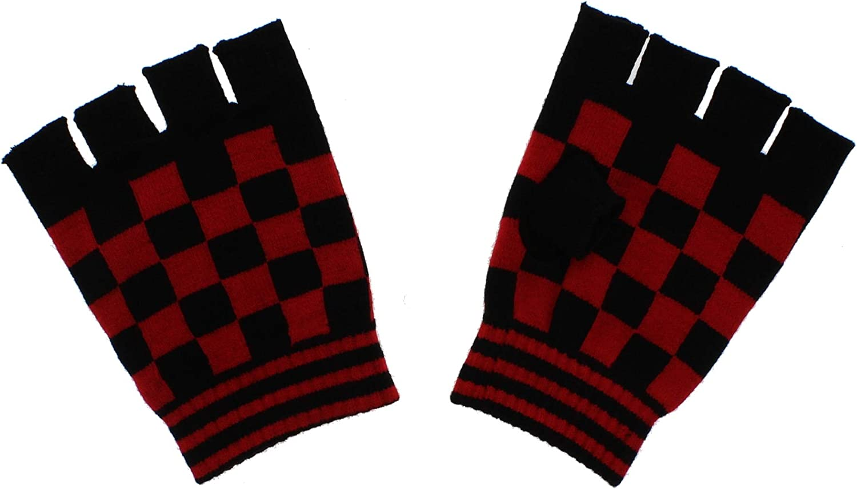 Zacs Alter Ego Checkered Short Fingerless Gloves