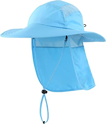 Home Prefer Mens UPF 50 Sun Protection Hat Wide Brim Fishing Hat with Neck Flap