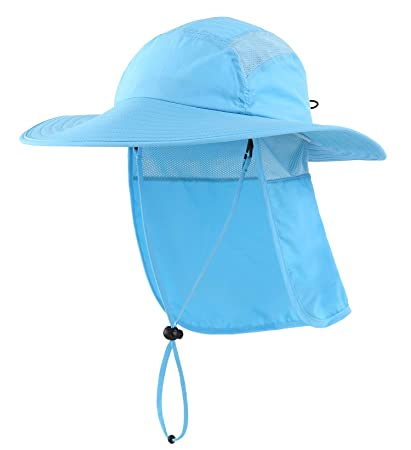 b31b8f58e06d8 Home Prefer Mens UPF 50+ Sun Protection Cap Wide Brim Fishing Hat with Neck  Flap