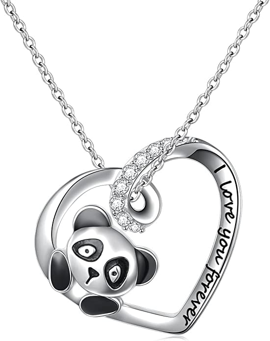 Jewels Obsession Silver Best Friend In Heart Necklace Rhodium-plated 925 Silver Best Friend In Heart Pendant with 18 Necklace