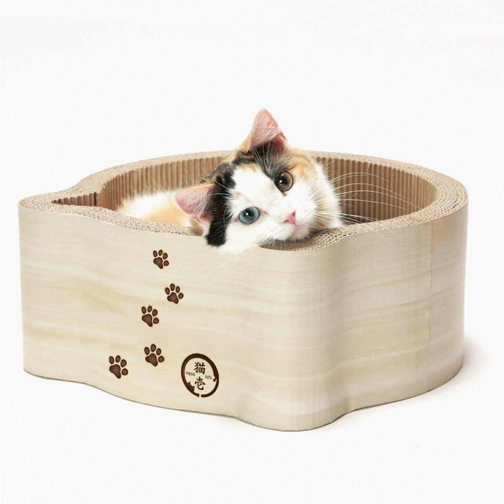 Necoichi Cat-Headed Scratcher Bed