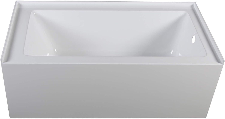 "Fine Fixtures Acrylic/Fiberglass Soaking Bathtub, Exclusive Small Size 54"" x 30"", Alcove/Apron Front (Right Hand)"