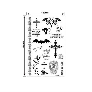 LNNHJB Etiqueta engomada del Tatuaje de Halloween Cicatrices ...