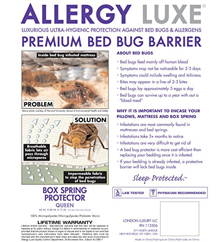 Allergy Luxe Arm Amp Hammer Antimicrobial Bed Bug Proof