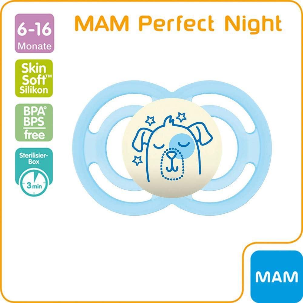 MAM 2x Nuit tétine 0 Night brille dans le Noir Set Silicone Aspirateur Sucette