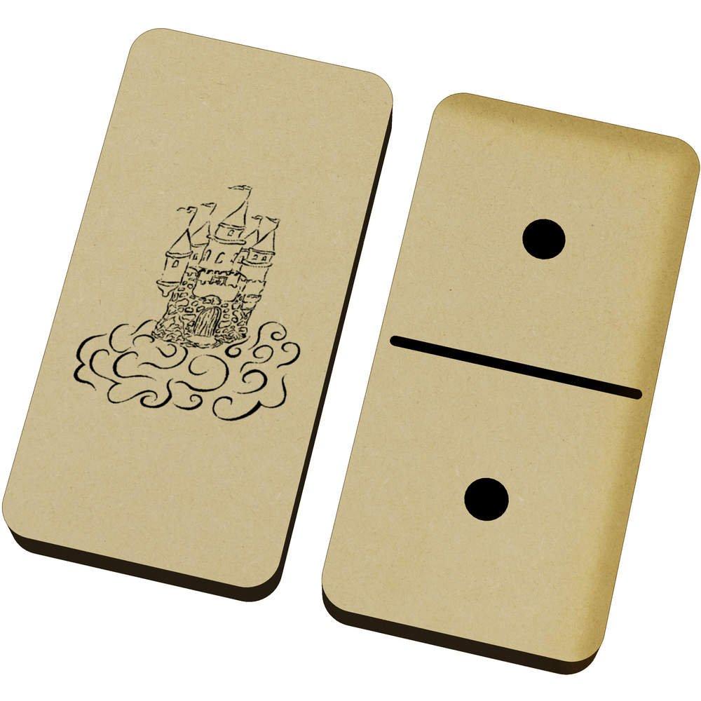 18bfd9e8d283 Games Traditional Games Azeeda Sky Castle Domino Set & Box DM00017743