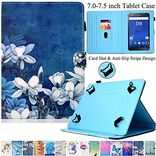 Universal Case for 7.0-7.5 inch Tablet, Artyond PU Leather Multi-Angle Stand Case with Card Slots Magnetic Buckle Cover for Android, Windows,Kindle,Galaxy Tab & Other 7.0-7.5 inch Tablet (Bloom) (2011 Kindle Cover Fire)