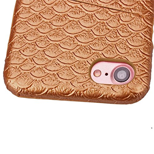 iPhone 7 Hülle, Apple iPhone 7 Hülle, Lifeturt [ Gold ] Gemalt Mode-Design PC Hardcase Handycover Schutzhülle Etui Telefon-Kasten Hülle Case für Apple iPhone 7