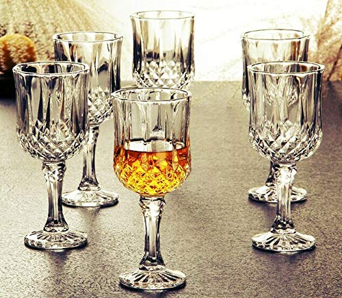 PrimeWorld Glass Wine Glass – 6 Pieces, Clear, 220 ml Price & Reviews