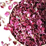 Dried Rose Petals, Culinary Grade, Fragrant, Organic (40 Grams)