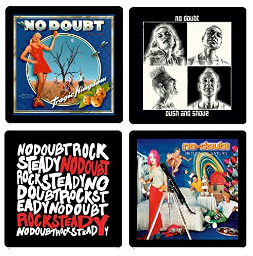 No Doubt Coaster Gift Collection - (4) Different Album Covers Reproduced Onto Absorbent, Soft, Drink Coasters (Stefani Collection)