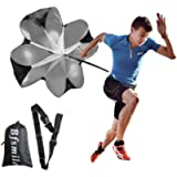Bfsmile Running Speed Training 56' Parachute with Adjustable Strap, Free Carry Bag. Speed Chute Resistance Running…