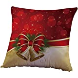 Christmas Pillow Case,FUNIC Christmas Sofa Bed Home Decoration Linen Square Cushion Covers