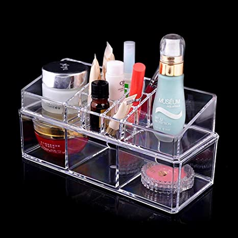 0cad82747f88 BlushBees® Acrylic Cosmetic Makeup Organizer Storage Stand, 1 Piece,  Transparent
