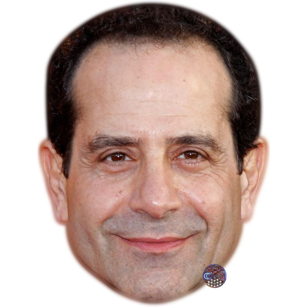 Fancy Dress Mask Flat Card Face Tony Shalhoub Celebrity Mask