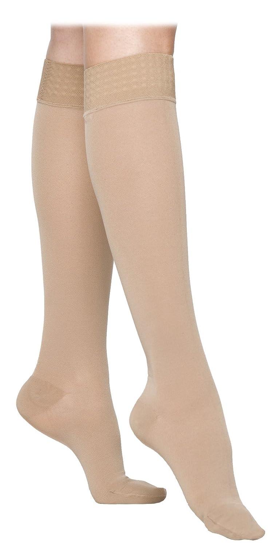 Sigvaris 863CXSW99-S Select Comfort Knee High-XL-Shrt w/ Grip Top-BLK