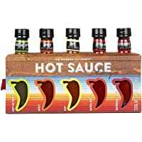 Hot Sauces To Go: Home Edition | 5 Unique Hot Sauce Blends Including Green Verde, Fiery Diablo, and More (Hotness Variations)