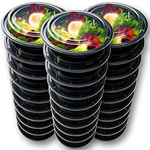 30 meal prep containers reusable disposable food containers meal prep bowls. Black Bedroom Furniture Sets. Home Design Ideas