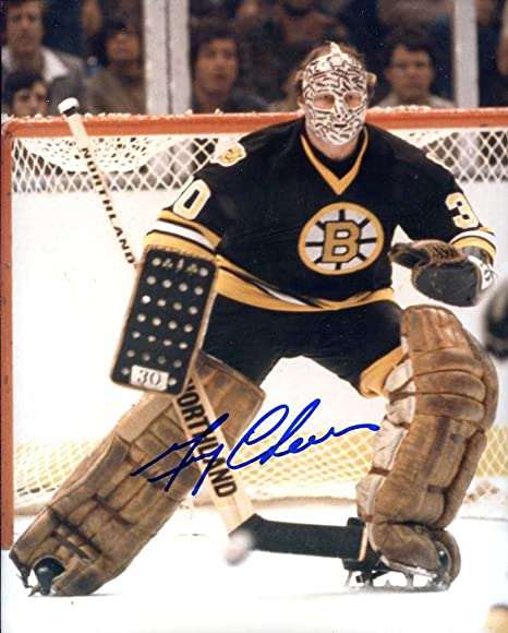 12073591a Gerry Cheevers (Hockey HOFer) Autographed /Original Signed 8x10 Color Photo  Showing Him Goaltending for the Boston Bruins at Amazon's Sports  Collectibles ...