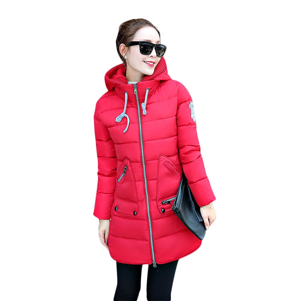 Rela Bota Women's Winter Faux Fur Hooded Coats Down Parkas Anroaks Long Jacket Overcoat
