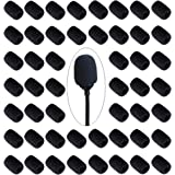 50 Pieces Headset Foam Mic Covers Mini Lapel Microphone Windscreen Suitable for Microphone Noise Reduction and Protection (BLACK)