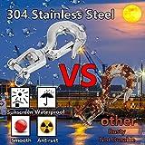 Slip Hook, Lsquirrel 2Pcs 304 Stainless Steel
