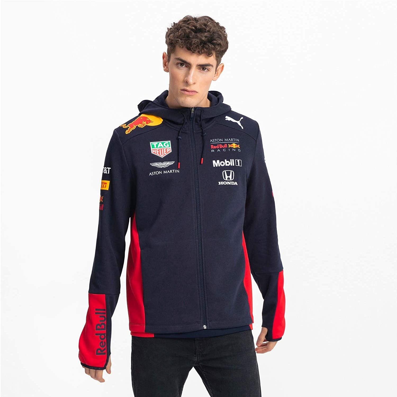 Puma Red Bull Racing Men S Team Hooded Sweat Jacket Amazon De Bekleidung