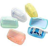 Bullidea 5pcs Portable Travel Toothbrush Head Cover Case Protective Caps Health Germproof Preventing Molar(Random Color)