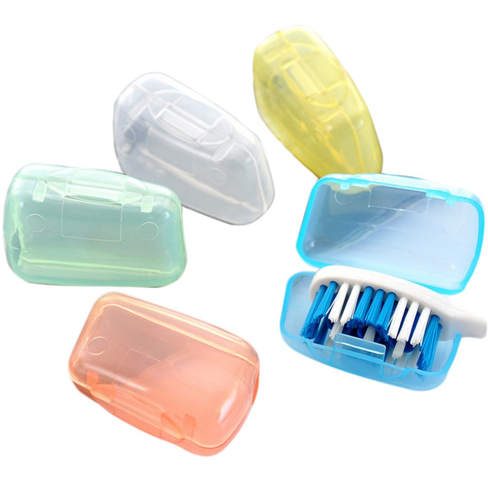 Da.Wa 5x Travel Portable Toothbrush Head Covers Case Protective Preventing Molar(not included toothbursh)